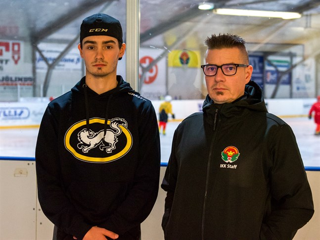 Jani Jumppanen (till höger) lotsar IK Kronan. Will Bray är ny målvakt och kommer från Nottingham i England.