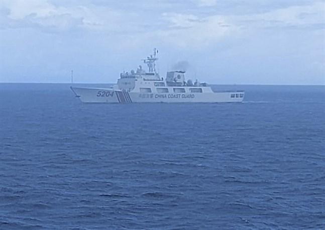 Kinesisk kustbevakning kontrollerar delar av Sydkinesiska sjön.