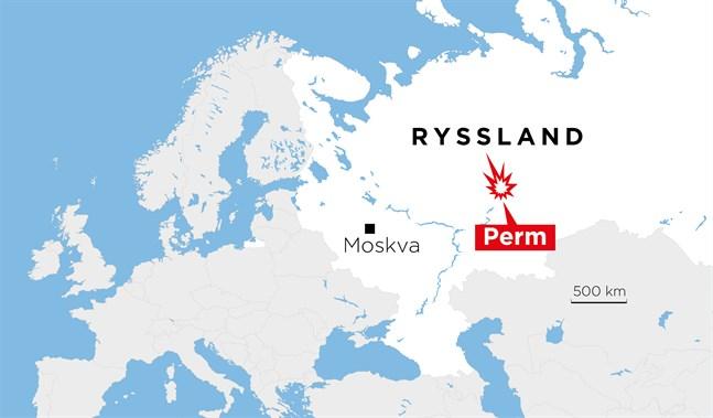 Perm ligger öster om Moskva.