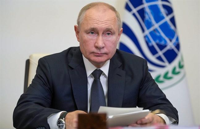 Rysslands president Vladimir Putin. Bild från häromdagen.