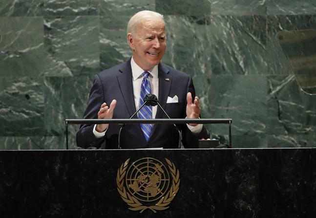 USA:s president President Joe Biden i FN.