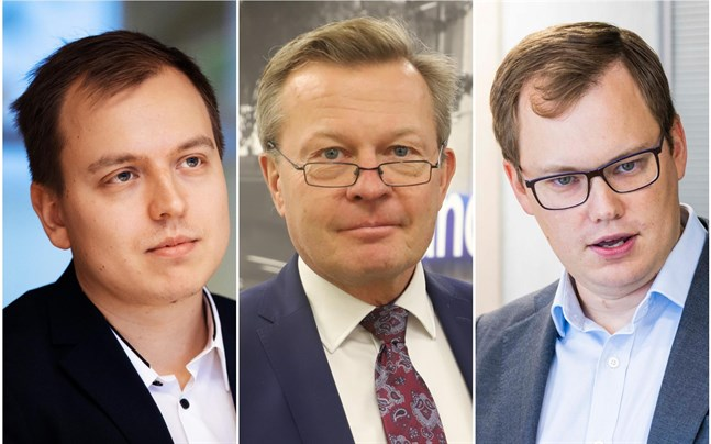 Jukka Oksaharju, Frej Björses och Lasse Corin.