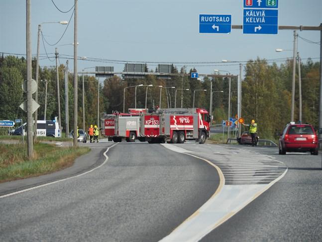 Trafikolyckan inträffade nära SEO-stationen i Karleby.
