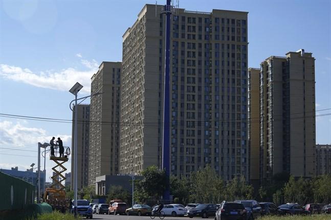 Ett av fastighetsjätten Evergrandes många bostadshus i Kina. Bilden är tagen i Peking.