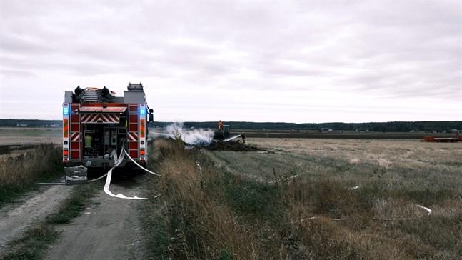 Gränsbranden bröt ut vid 13-tiden på onsdagen.