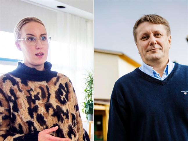 Heidi Svartsjö är förälder och bosatt i Gerby. Fredrik Sundell är också Gerbybo och rektor för Gerby skola. Båda vill få ett slut på flaskbomberna.