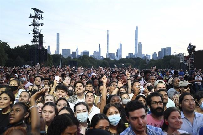 En relativt stor publik samlades i Central Park.