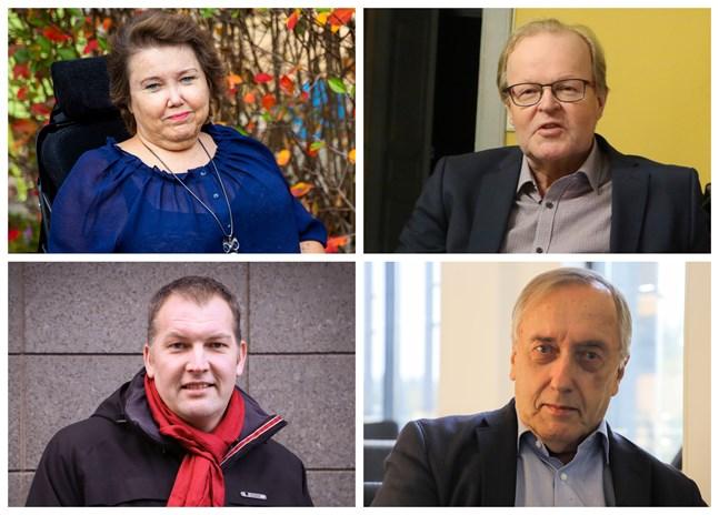 Carola Lithén, Gösta Willman, Viktor Kock och Hans Frantz.