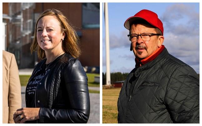Anna Bertills och Rainer Bystedt hade delade åsikter om när kuratorer och psykologer ska flyttas till välfärdsområdet.