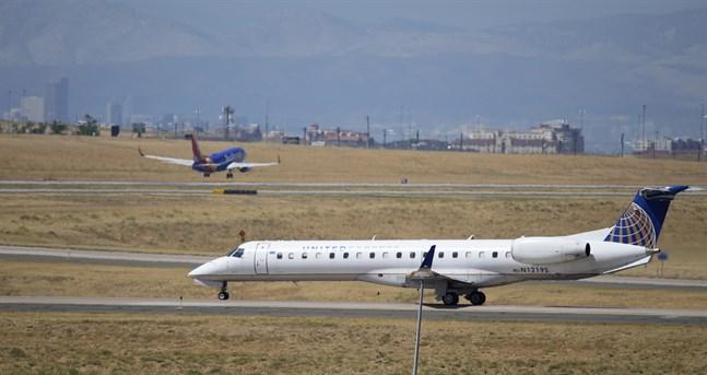 Ett United-plan vid Denvers flygplats. Arkivbild.