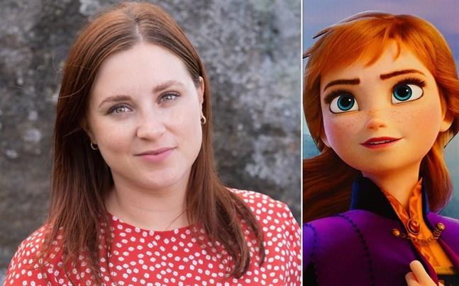 """Sarah Nedergård ser stora likheter mellan sig själv och karaktären Anna i Disneyfilmen """"Frost""""."""