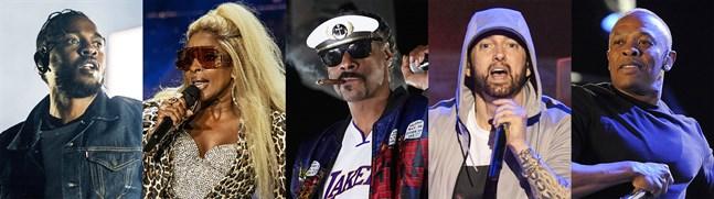 Kendrick Lamar, Mary J Blige, Snoop Dogg, Eminem och Dr Dre kommer att uppträda tillsammans i halvtidsvilan under Super Bowl i februari 2022.