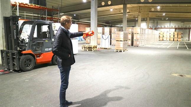 För trångt i Nykarleby och i Jakobstad fanns lämpliga utrymmen, säger Marko Nylund som är vd för Prevex.