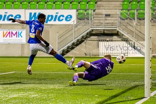 Emmanuel Igboeris reducering till 3–5 i 88:e minuten hjälpte inte – Vasa IFK kammade noll på lördagskvällen.