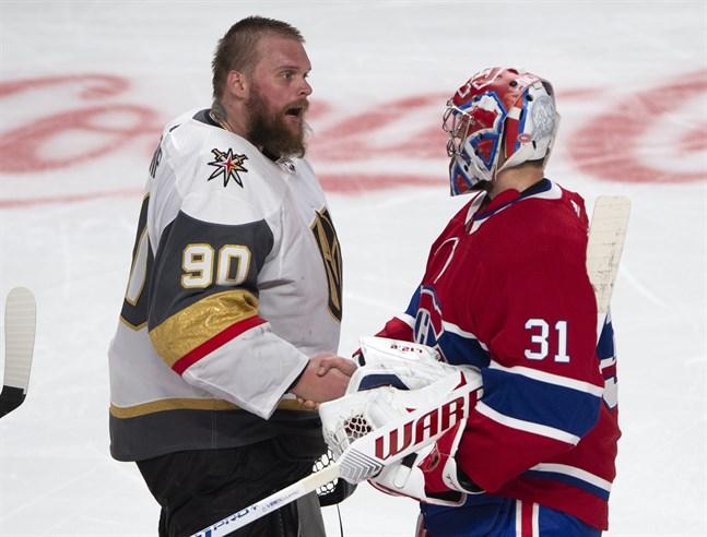 Robin Lehner, till vänster, har riktat kritik mot NHL.
