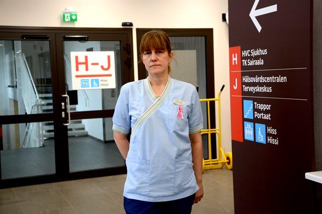 Närpes höjde beredskapen genast när de fick nys om olyckan, säger Linda Ahlroos, avdelningsskötare Närpes hälsocentral.