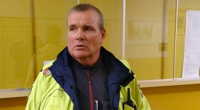 Kretsbrandchef Kaj Enqvist i Kaskö på tisdagen.