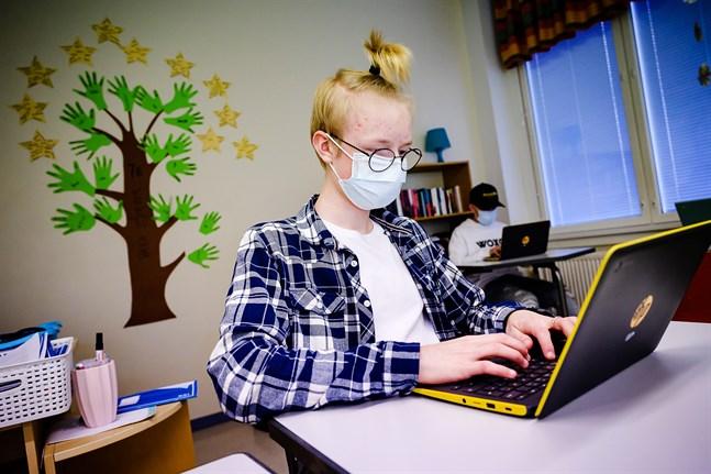Niondeklassaren Pär Lund valde tillvalsämnet Key koncepts eftersom han gillade att fokus låg på framtiden efter skolan.