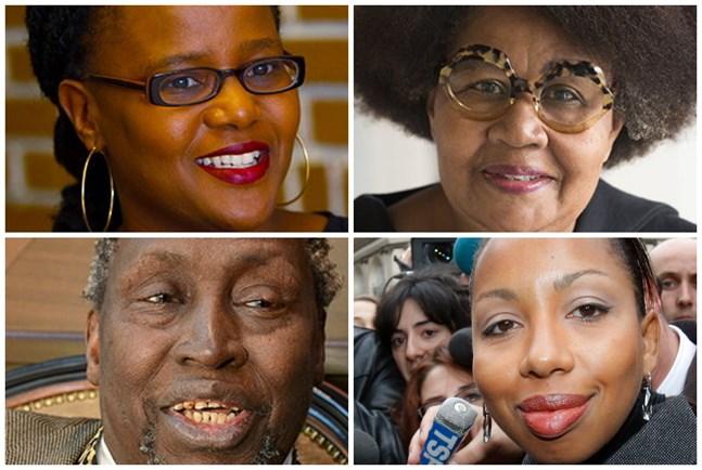 Blir det någon av dessa som får Nobels litteraturpris i år? Uppifrån vänster: Edwidge Danticat, Jamaica Kincaid, Ngugi wa Thiong'o och Marie N'Diaye