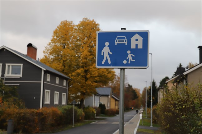 Trafikmärket som anger gårdsgata.