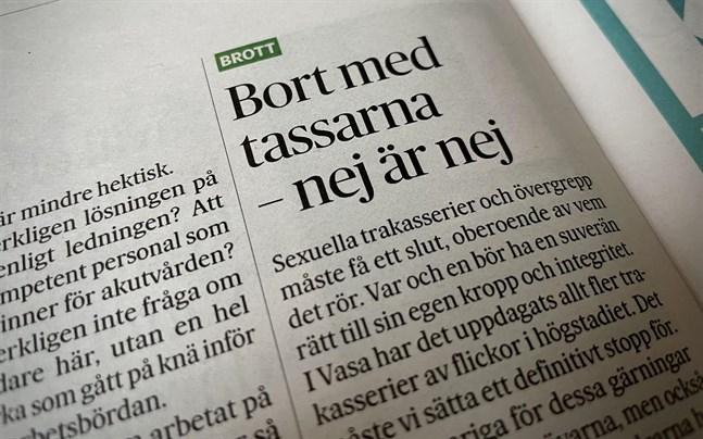 Maria Tolppanens (SDP) insändare i Vasabladet fortsätter orsaka debatt.