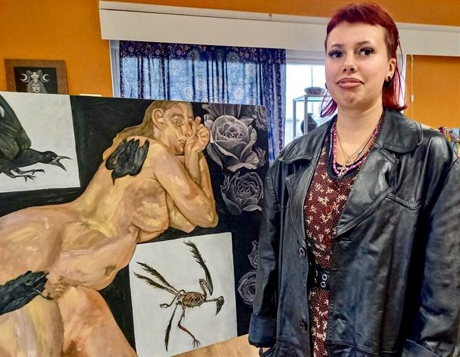 Lilian Back målar gärna människor och känslor.