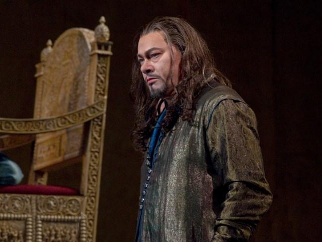 """René Pape i rollen som den ryske tsaren i Metropolitan-operans uppsättning av """"Boris Godunov."""""""