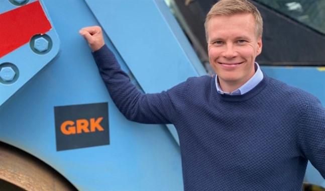 VärldsmästarenMatti Heikkinen är marknadsförings - och kommunikationsdirektör för Team Mäenpääs huvudsponsor GRK.