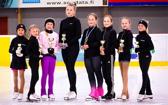 Jeppis Skating: Wilma Paalanen, Emmi Rintala, Milla Sillanpää, Wilma Meriluoto, Evelina Sandberg, Mica Storholm, Sanni Tervaskangas och Amanda Björk.