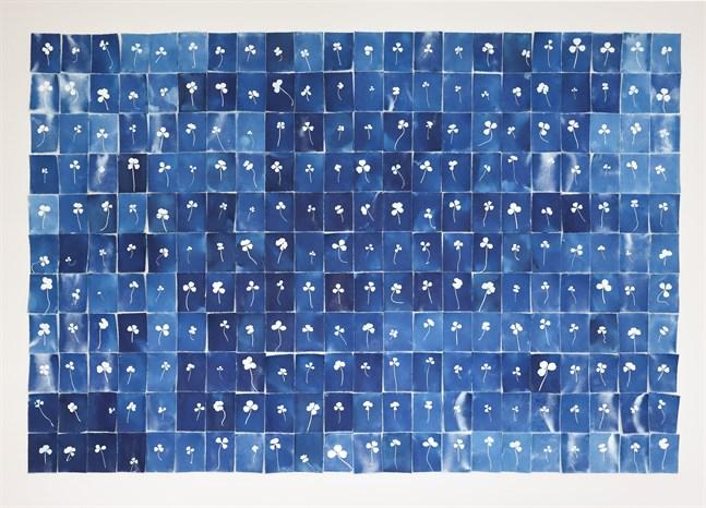 """En och annan fyrklöver finns det i Anna Niskanens verk """"Good Luck, Good Luck"""" som hon skapat i år."""