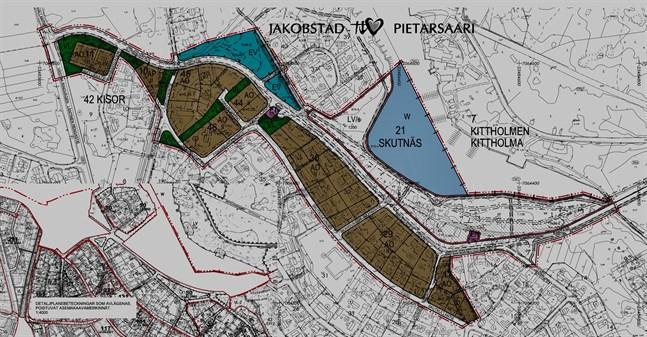 En karta kan vara svårtolkad och därför efterlyser stadsborna en markering i terrängen där man tydligt ser den planerade vägsträckningen.
