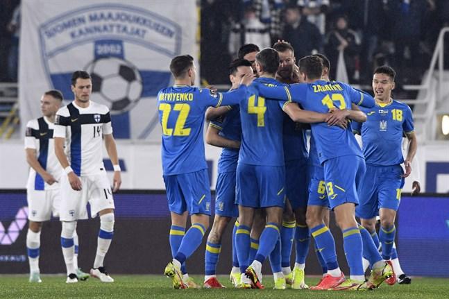 Ukraina firade mål direkt i början av matchen.