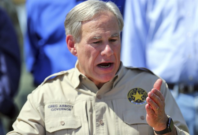 Texas guvernör Greg Abbott, bild från tidigare i oktober.