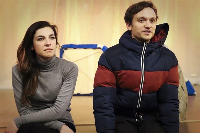 Giuseppina Bridelli, från Italien, och britten Hugo Hymas är i Vasa för första gången.