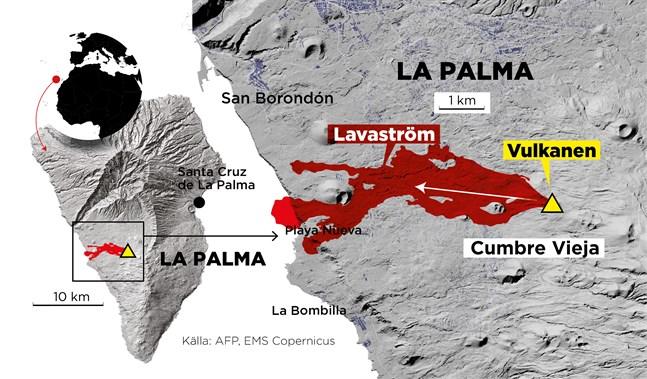 Webbkarta med lavaströmmen