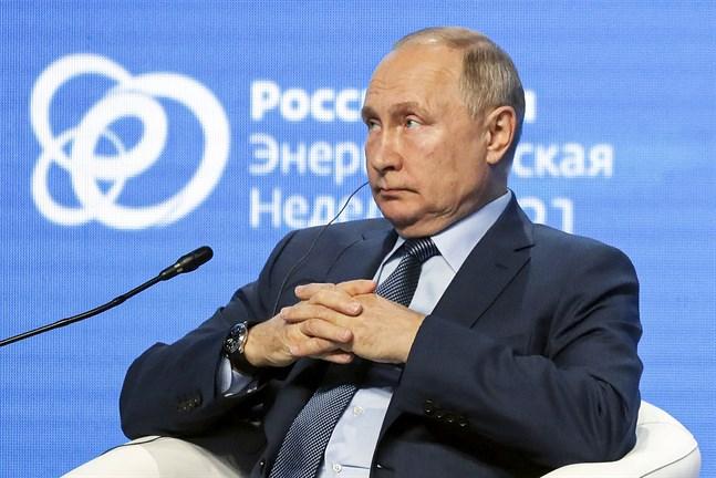 President Vladimir Putin på klimat- och energiforum i Moskva.