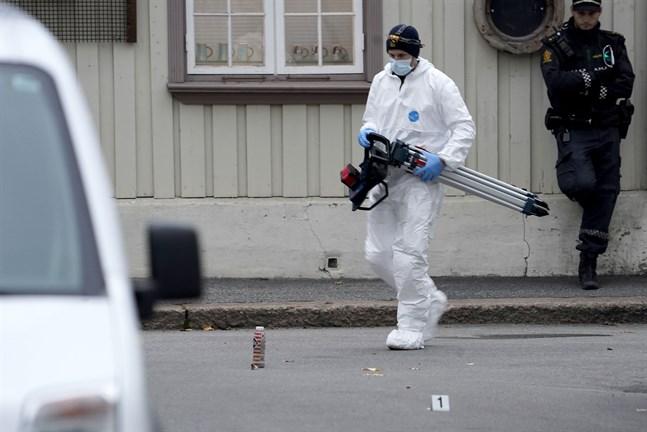 Polisens arbete fortsätter i Kongsberg.